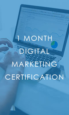 1 month digital marketing certification course